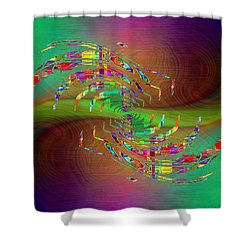 Shower Curtain featuring the digital art Abstract Cubed 379 by Tim Allen