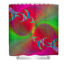 Shower Curtain featuring the digital art Abstract Cubed 383 by Tim Allen