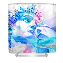Shower Curtain featuring the painting Abstract David Michelangelo 3 by J- J- Espinoza