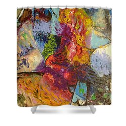 Abstract Depths Shower Curtain