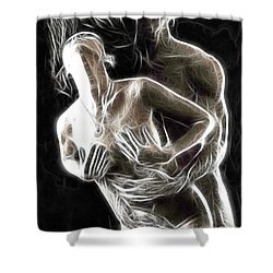 Abstract Digital Artwork Of A Couple Making Love Shower Curtain by Oleksiy Maksymenko