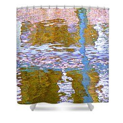 Abstract Directions Shower Curtain