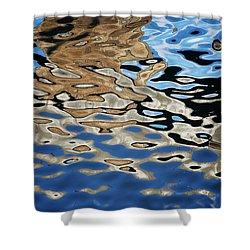 Abstract Dock Reflections I Color Shower Curtain