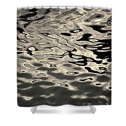 Abstract Dock Reflections I Toned Shower Curtain