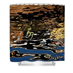 Abstract Dock Reflections II Color Sq Shower Curtain