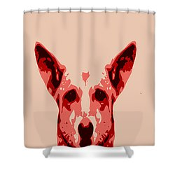 Abstract Dog Contours Shower Curtain