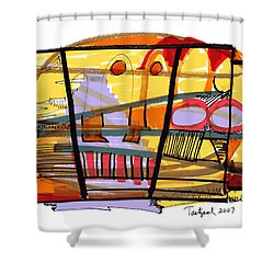 Abstract Drawing Sixty-seven Shower Curtain
