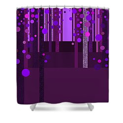 Abstract Dreamscape - Deep Purple Shower Curtain