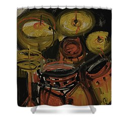 Abstract Drums Shower Curtain