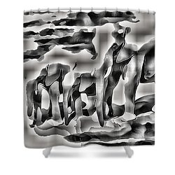 Abstract Elephant Family Shower Curtain
