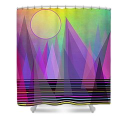 Abstract Elevation Shower Curtain by Kathleen Sartoris