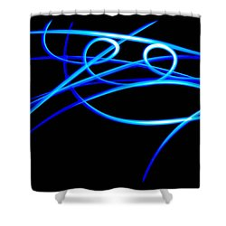 Abstract Energy Flow Shower Curtain by Bruce Pritchett
