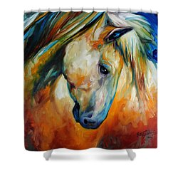 Abstract Equine Eccense Shower Curtain