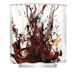 Abstract Expressionism Painting 50.072110 Shower Curtain by Kris Haas