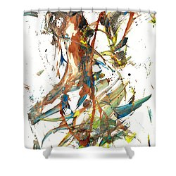 Shower Curtain featuring the painting Abstract Expressionism Painting Series 1039.050812 by Kris Haas