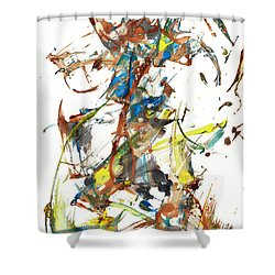 Shower Curtain featuring the painting Abstract Expressionism Painting Series 1040.050812 by Kris Haas