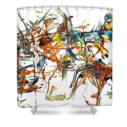 Shower Curtain featuring the painting Abstract Expressionism Painting Series 1041.050812 by Kris Haas