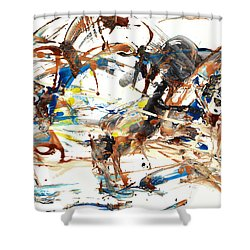 Shower Curtain featuring the painting Abstract Expressionism Painting Series 1042.050812 by Kris Haas