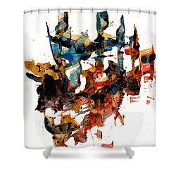Abstract Expressionism Painting Series 750.102910 Shower Curtain by Kris Haas