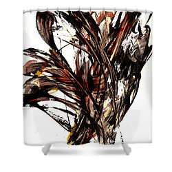 Abstract Expressionism Series 58.121210 Shower Curtain by Kris Haas