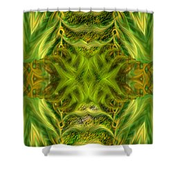 Abstract Fantasy Art - Spirit Of The Jungle By Rgiada Shower Curtain by Giada Rossi