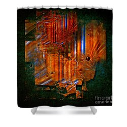 Shower Curtain featuring the painting Abstract Fields by Alexa Szlavics