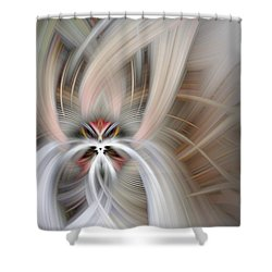 Abstract Fire And Ice Shower Curtain
