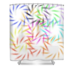 Abstract Fireworks Shower Curtain