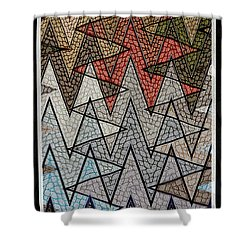 Abstract Floor  Shower Curtain