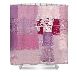 Abstract Floral - 11v3t09 Shower Curtain