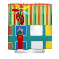 Abstract Floral Art 130 Shower Curtain