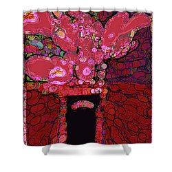 Abstract Floral Art 160 Shower Curtain