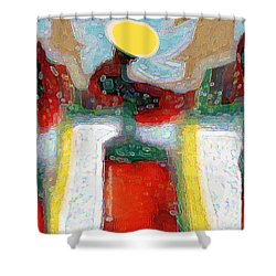 Abstract Floral Art 208 Shower Curtain