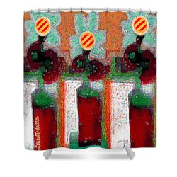 Abstract Floral Art 211 Shower Curtain
