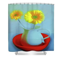 Abstract Floral Art 268 Shower Curtain