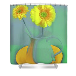 Abstract Floral Art 307 Shower Curtain