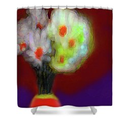 Abstract Floral Art 340 Shower Curtain