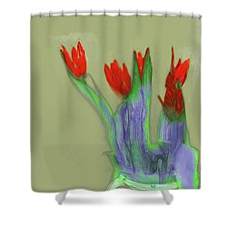 Abstract Floral Art 346 Shower Curtain