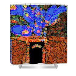 Abstract Floral Art 77 Shower Curtain