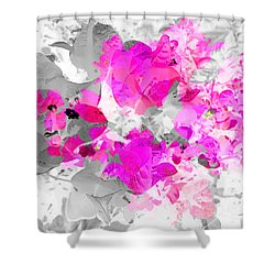 Abstract Floral No.4 Shower Curtain