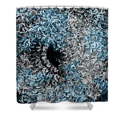 Abstract Floral Swirl No.2 Shower Curtain
