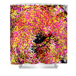 Abstract Floral Swirl No.3 Shower Curtain