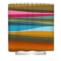 Abstract Flow Shower Curtain