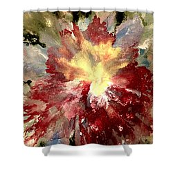Shower Curtain featuring the painting Abstract Flower by Denise Tomasura