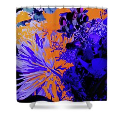 Abstract Flowers Of Light Series #1 Shower Curtain