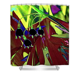 Abstract Flowers Of Light Series #10 Shower Curtain