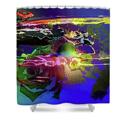 Abstract Flowers Of Light Series #11 Shower Curtain