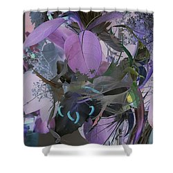 Abstract Flowers Of Light Series #12 Shower Curtain
