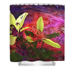 Abstract Flowers Of Light Series #16 Shower Curtain