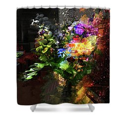 Abstract Flowers Of Light Series #17 Shower Curtain